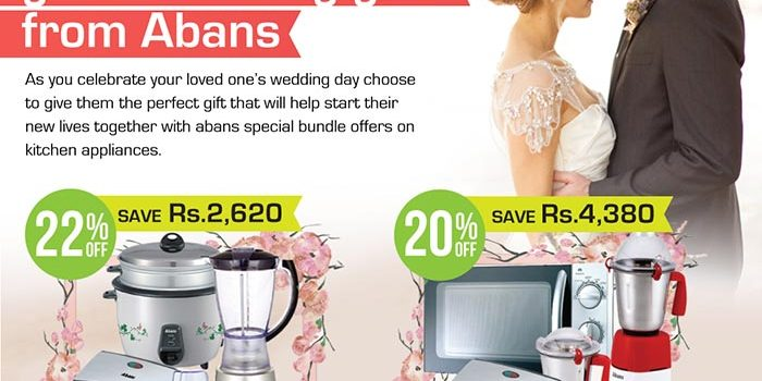 "Say ""I Do"" to great wedding gifts from Abans"